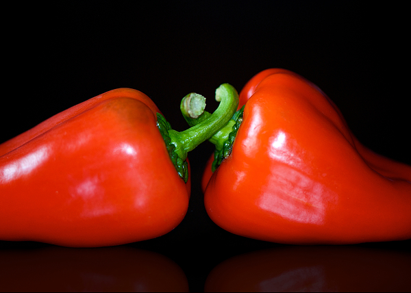 Peppers Photograph - the Kiss by Lisa Knechtel
