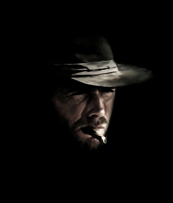 Clint Eastwood Digital Art - The Man With No Name by Laurence Adamson