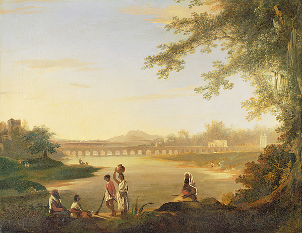 Marmalong Painting - The Marmalong Bridge by William Hodges