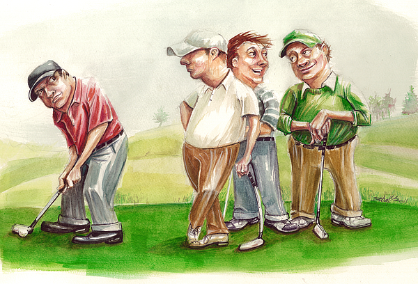 Golf Painting - The Mouth by Michael Scholl