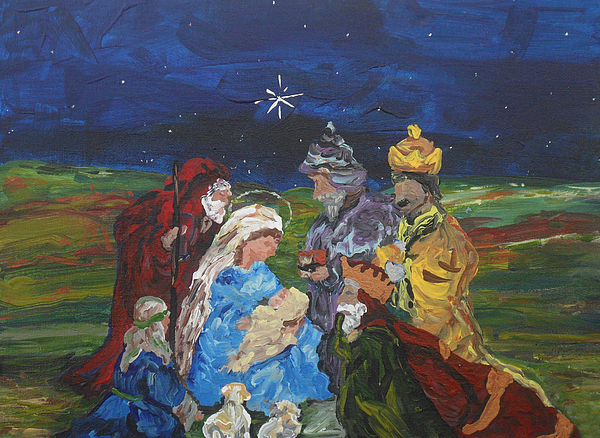 Nativity Painting - The Nativity by Reina Resto