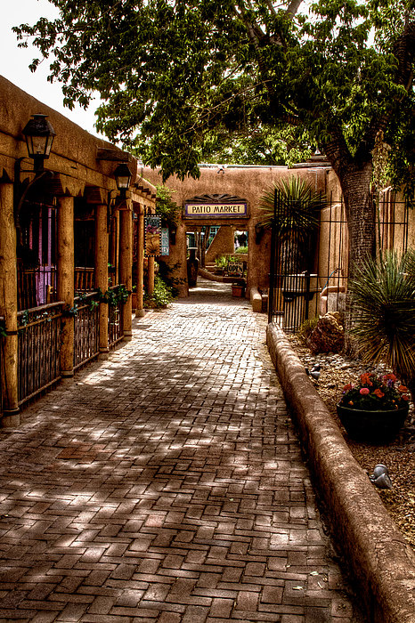 New Mexico Photograph - The Patio Market by David Patterson
