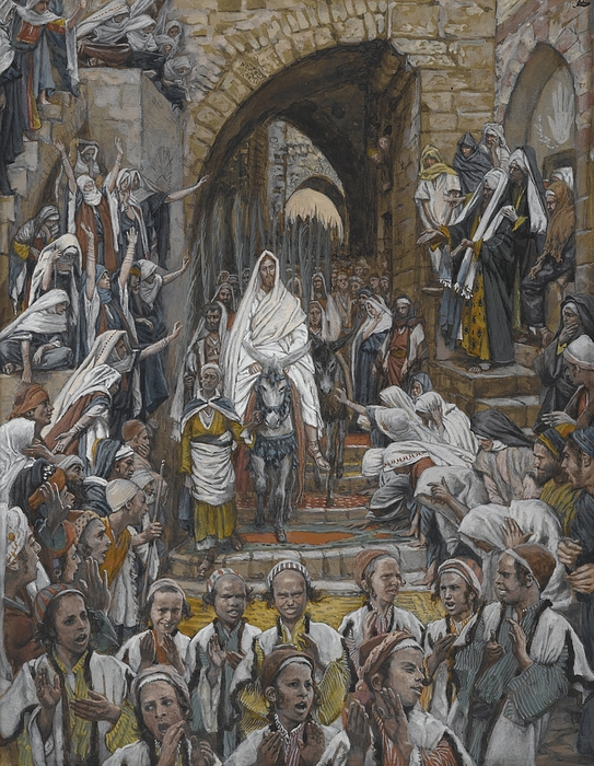 Tissot Painting - The Procession In The Streets Of Jerusalem by Tissot
