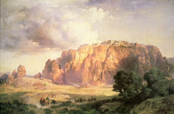 The Pueblo Of Acoma Painting - The Pueblo Of Acoma In New Mexico by Thomas Moran