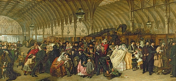 The Railway Station Painting - The Railway Station by William Powell Frith