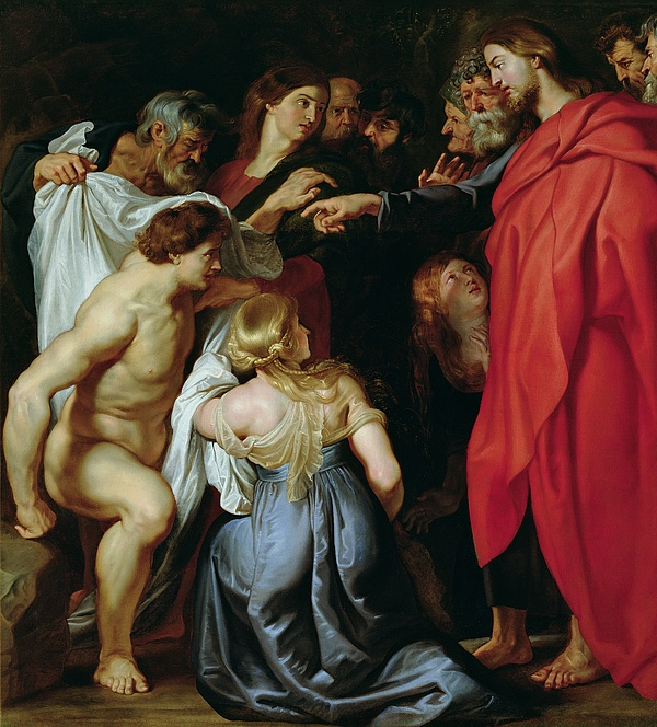 The Painting - The Resurrection Of Lazarus by Rubens