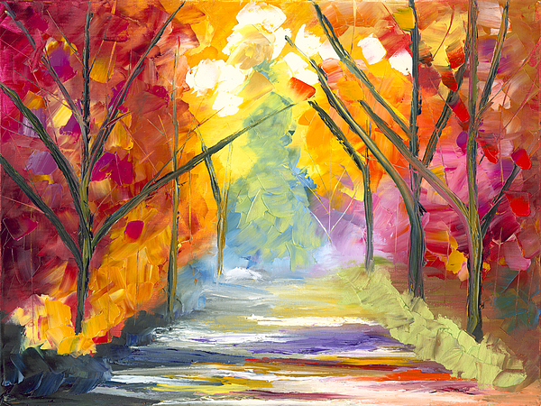 Landscape Painting - The Road Less Traveled by Jessilyn Park