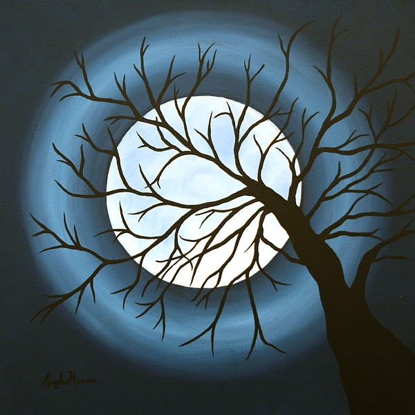 Moon Painting - The Sleeping by Angela Hansen