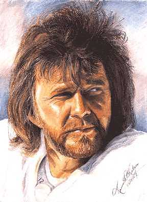 Portrait Painting - The Snake - Ken Stabler by Kenneth Kelsoe
