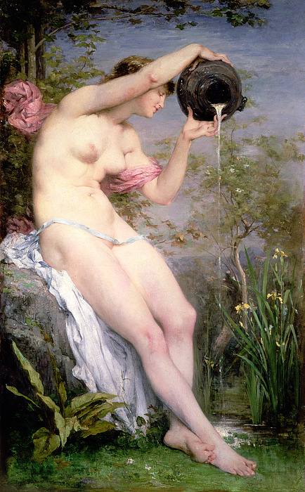 The Painting - The Source by Joseph Victor Ranvier