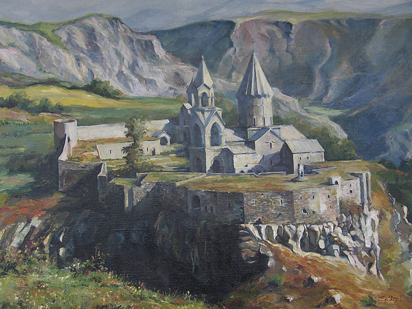 The Tatev Monastery Painting