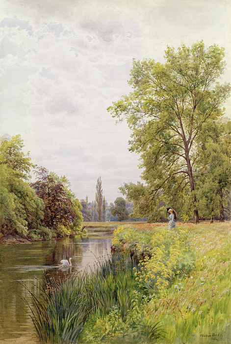 The Thames At Purley Painting - The Thames At Purley by William Bradley