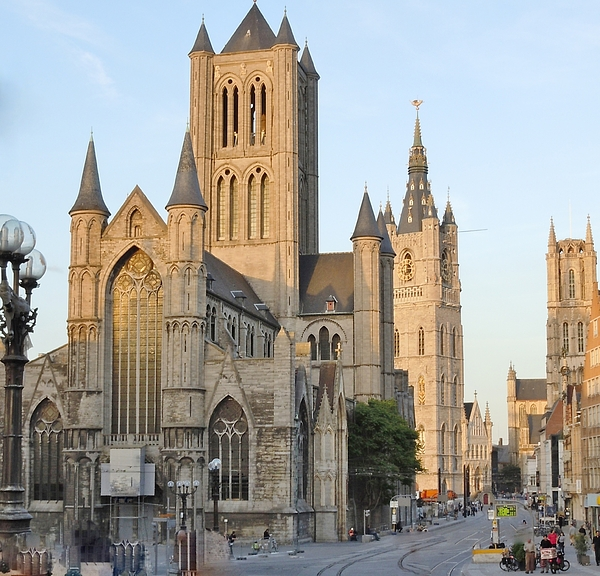 Europe Photograph - The Three Towers Of Gent by Marilyn Dunlap