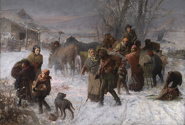 Abolition Painting - The Underground Railroad by Charles T Webber