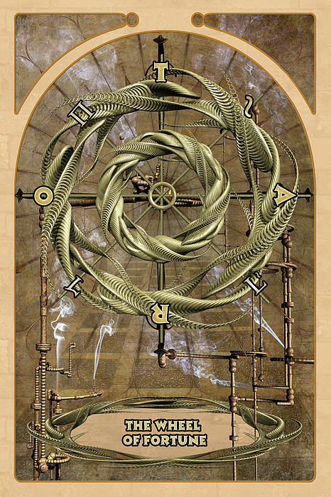 Magic Digital Art - The Wheel Of Fortune by John Edwards