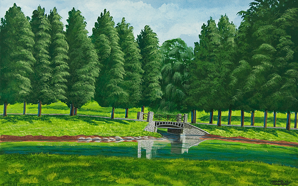 The Willow Path Painting