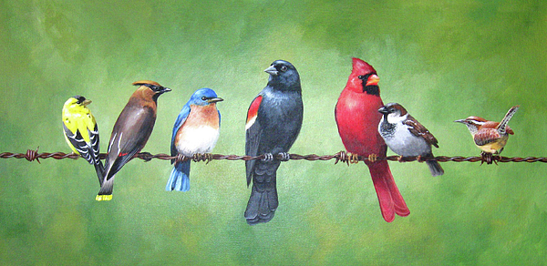 Goldfinch Painting - The Yardbirds by Kerry Trout