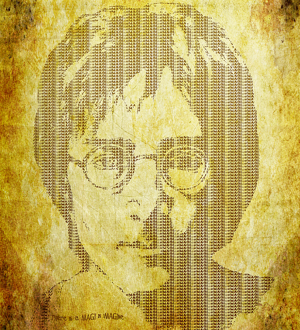 John Lennon Digital Art - There Is A Magi In Imagine by Laura Brightwood