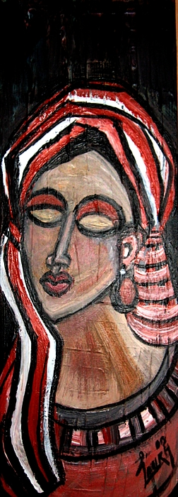 African Art Painting - Thoughts by Laura Fatta