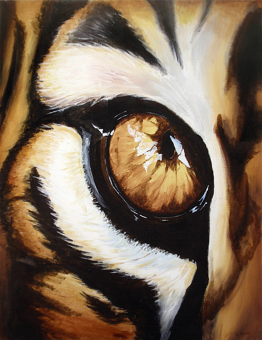Acrylic Painting - Tigers Eye by Lane Owen