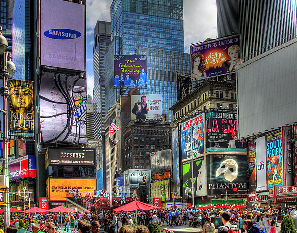 In Focus Photograph - Times Square by Joe Paniccia