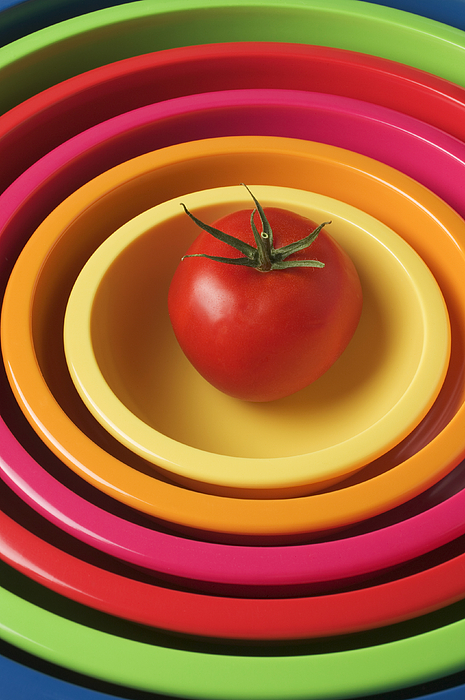 Tomato In Mixing Bowls Photograph