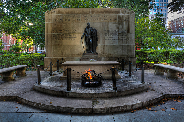 Lee Dos Santos Photograph - Tomb Of The Unknown Revolutionary War Soldier - George Washington  by Lee Dos Santos