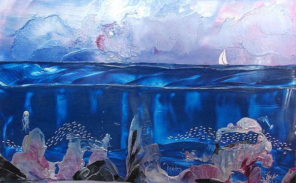 Underwater Painting - Toms Sail by Danita Cole