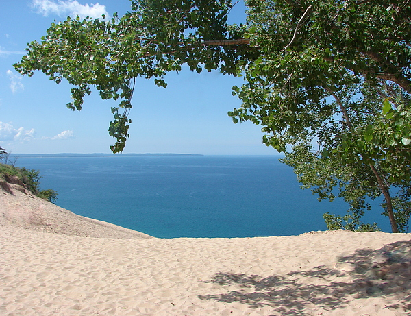 Sleeping Bear Dunes Photograph - Top Of The Dune At Sleeping Bear by Michelle Calkins