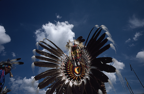 Outdoors Photograph - Traditional Native American Dancers by Lynn Johnson