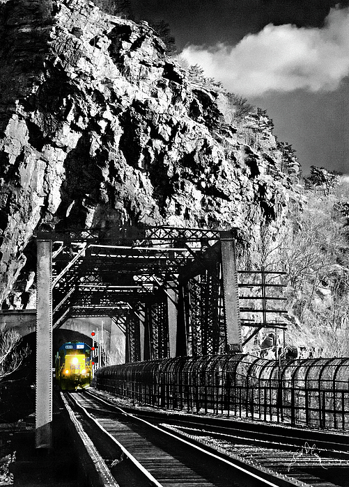 Train At Harpers Ferry Photograph