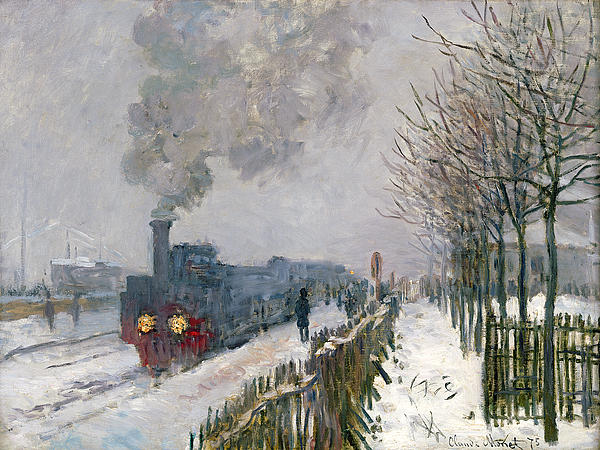 Train In The Snow Or The Locomotive Painting