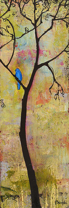 Tree Prints Painting - Tree Print Triptych Section 3 by Blenda Studio