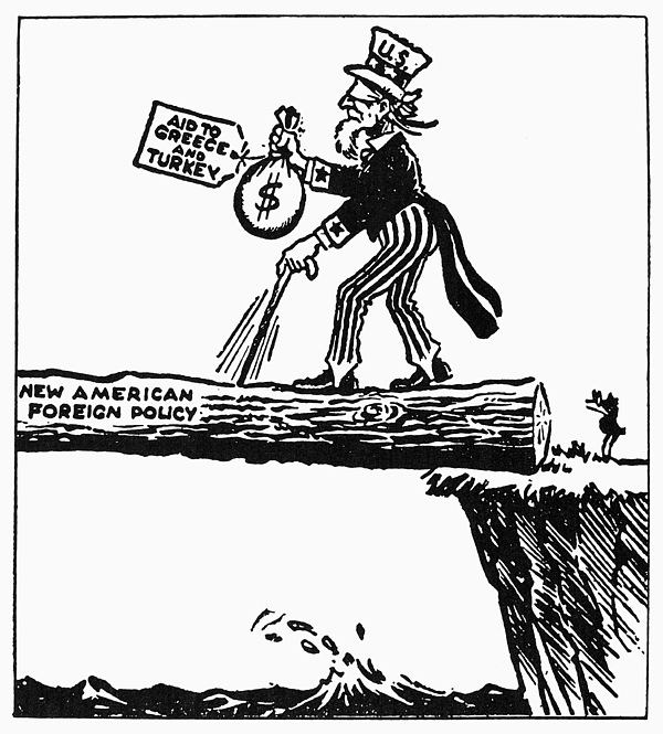 1947 Photograph - Truman Doctrine Cartoon by Granger