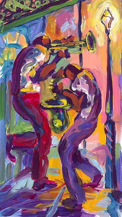 Trumpet And Saxophone Painting
