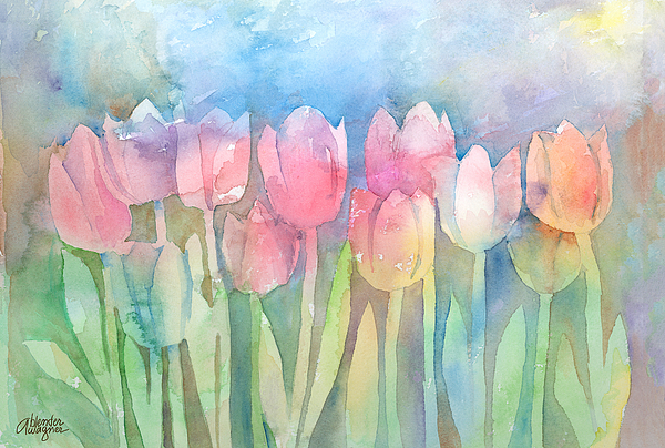 Tulips In A Row Painting