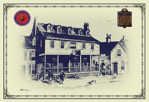 Tun Tavern - Birthplace Of The Marine Corps Digital Art