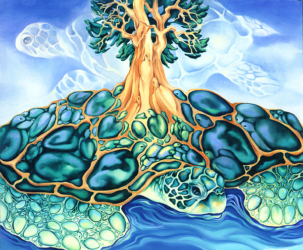 Fantasy Painting - Turtle Island by Marcia Snedecor