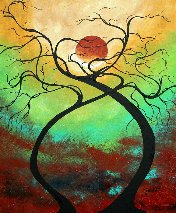 Twisting Love II Original Painting By Madart Painting
