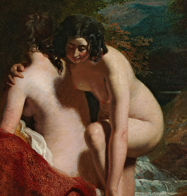 Nude Painting - Two Girls Bathing by William Etty