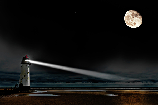 Lighthouse Photograph - Two Guiding Lights by Meirion Matthias