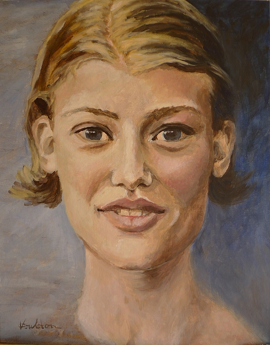 Portraits Painting - Up Close by Veronica Coulston