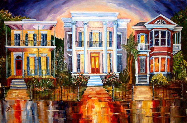 New Orleans Painting - Uptown Tonight by Diane Millsap
