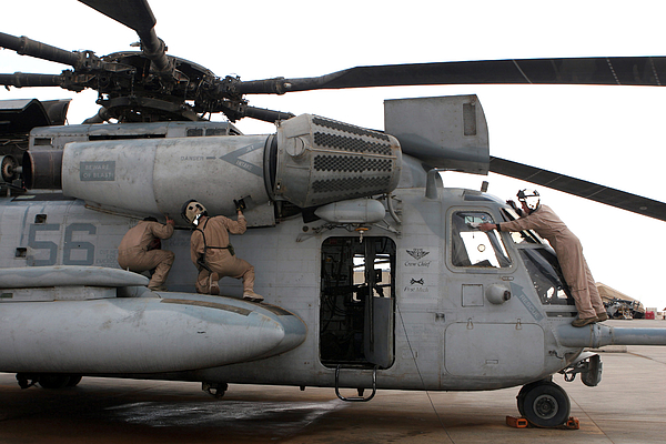 Adults Only Photograph - U.s. Marines Perform Preflight Checks by Stocktrek Images