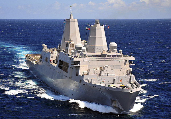 Transit Photograph - Uss Green Bay Transits The Indian Ocean by Stocktrek Images