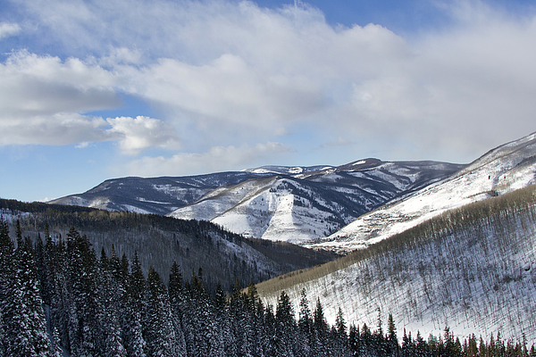 Vail Photograph - Vail Valley From Ski Slopes by Brendan Reals