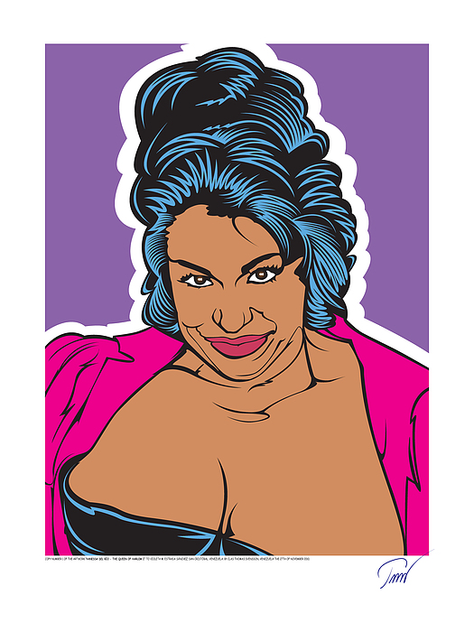 Clas Thomas Svensson Digital Art - Vanessa Del Rio - Queen Of Harlem I by Clas Thomas Svensson