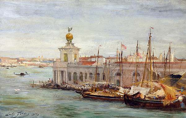 Boat Painting - Venice by Sir Samuel Luke Fields