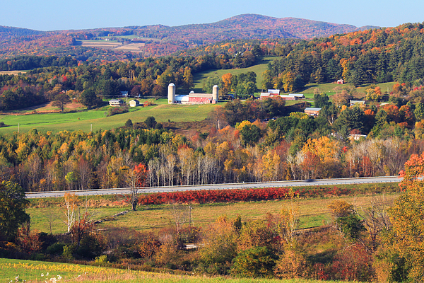 Vermont Photograph - Vermont Countryside View Pownal by John Burk