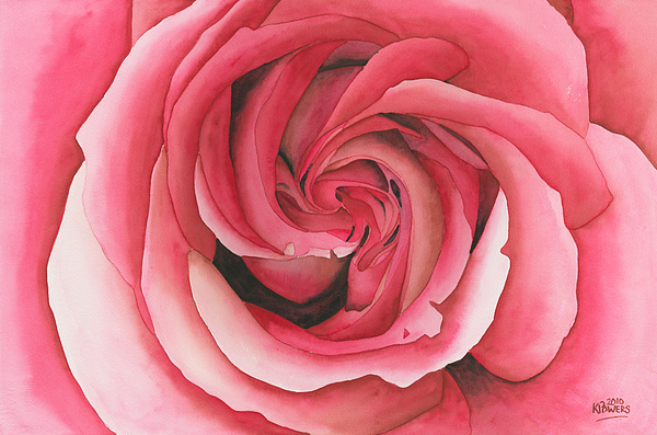 Vertigo Painting - Vertigo Rose by Ken Powers